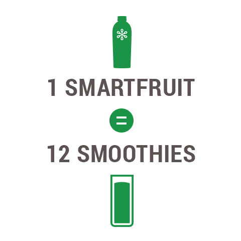 1 SmartFruit equals 12 smoothies